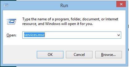 Image of Windows Run Dialog Box