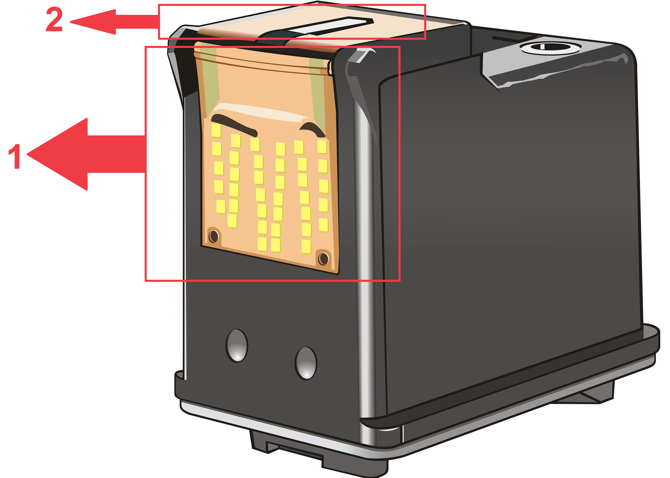Illustration of the circuitry on ink cartridge